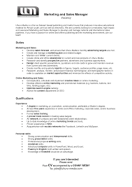 Digital Marketing Specialist Resume Resume Marketing Manager Example Of Application Letter For