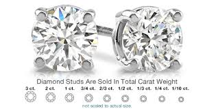 diamond stud diamond stud earrings from the jewelry exchange and