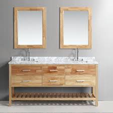 Wall Mount Vanity Sink Bathroom Modern Double Bathroom Vanities With White Varnished