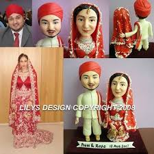 indian wedding cake toppers indian custom cake topper in traditional saree theme