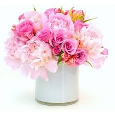 flowers roses pretty pink roses and peonies an bouquet
