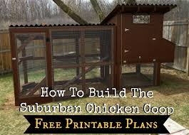 how to build the simple suburban chicken coop free printable