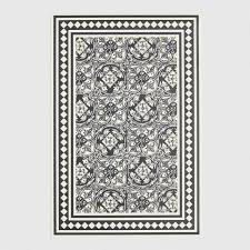 Vinyl Area Rugs Black And White Print Vinyl Area Rug World Market