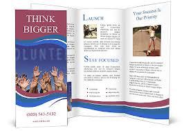 volunteer brochure template volunteering brochure template design id 0000004378