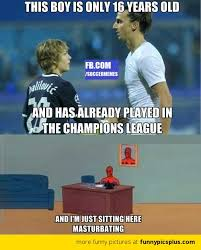 Chions League Meme - halilovic youngest chions league player funny pictures