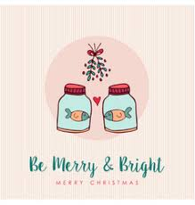 christmas holiday greeting card animal cartoon set
