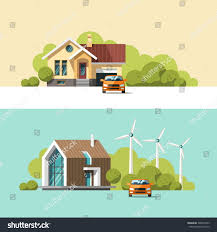 Family Home Traditional Modern House Family Home Flat Stock Vector 308567435