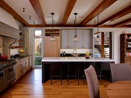 kitchen ceiling beams kitchen farmhouse with wood floor oversized