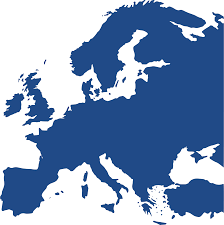 Blue World Map by Map Clipart