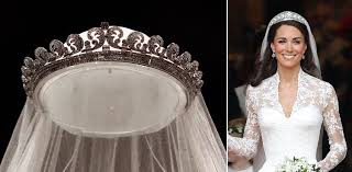 kate middleton wedding tiara duchess kate s wedding tiara liz s ruby necklace on display at