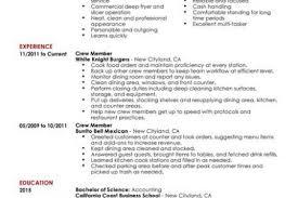 Fast Food Resume Samples by Crew Member Job New Resume For Fast Food Restaurant Subway Resume