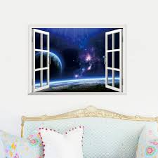 art scrapbook picture more detailed picture about charming outer charming outer space 3d window view wall sticker beautiful star sky scenery home kids room study