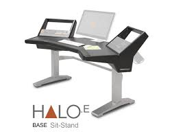 Sit And Stand Computer Desk by Argosy Halo E Sit Stand Height Adjustable Audio Workstation