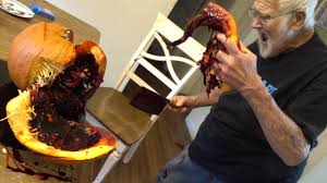 the fake blood filled pumpkin prank youtube