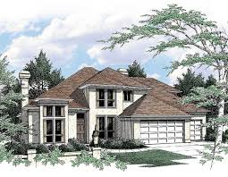 contemporary plan with curved staircase 69318am architectural