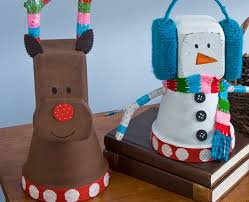Decorating Clay Pots Kids 139 Best Christmas Clay Pots Images On Pinterest Clay Pot Crafts