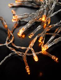 Amber Christmas Lights Led Amber Mini String Lights 108 Ft Clear Cord Battery Operated