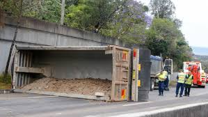 videos of monster trucks crashing second truck crash in two days closes mount ousley road photos
