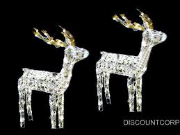 Lighted Sleigh And Reindeer by Animated Lighted Reindeer Christmas Decoration Rainforest