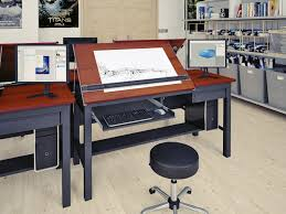 Black Drafting Table Awesome Black Wood Drafting Table Computer Desk With Right Side