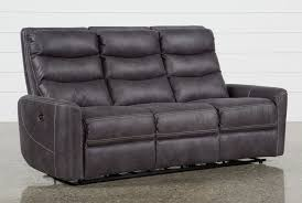 Sofa Recliner Bed Norfolk Grey Power Reclining Sofa Living Spaces