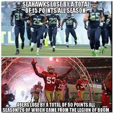 Seahawks Memes - a cool fact about the 49ers vs seahawks courtesy of seattle
