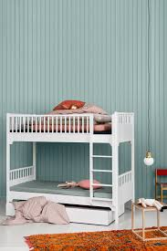 Furniture For Kids Bedroom Seaside Bunk Bed With Vertical Ladder And Bed Drawer By Oliver