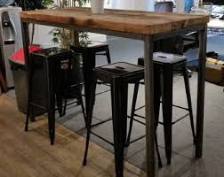 industrial bar table and stools industrial chic etsy