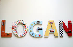 disney cars wall letters 3d custom wall letters boys room zoom