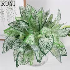 wedding backdrop accessories simulation taro leaf plant wall accessories artificial green