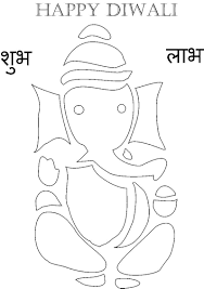 diwali colouring pages activity village rangoli colour by number