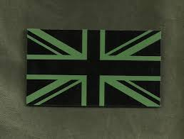 State Flag Velcro Patches British Uk Flag Ir Covert Velcro Patch Od Green