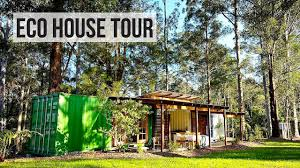 eco friendly houses information shipping container house tour eco friendly off grid youtube