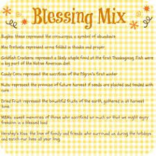 we are thankful thanksgiving blessings mix recipe organized