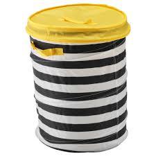 Laundry Hamper Ikea by Flyttbar Basket With Lid Yellow Ikea