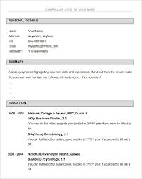 Free Student Resume Template Free Resume Templates Open Office Resume Templates Open
