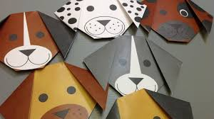 free origami dog paper print your own cute dogs youtube