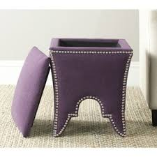 purple square ottomans u0026 storage ottomans shop the best deals
