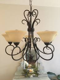 Painted Chandelier Chandelier Makeover With Chalk Paint 2 Bees In A Pod