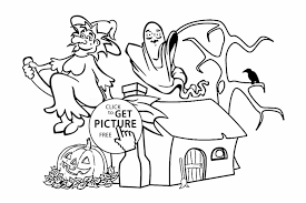 coloring page for kids printable free happy halloween letter g