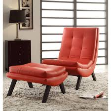 Red Ottoman Ave Six Tustin Lounge Chair And Ottoman Multiple Finishes