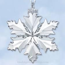 2014 swarovski snowflake annual limited edition ornament
