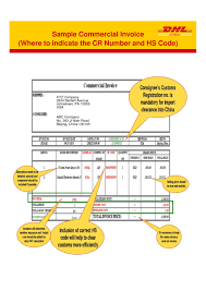 example commercial invoice courier invoice template invoices dhl commercial example proforma