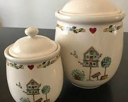 pottery kitchen canisters kitchen canisters etsy