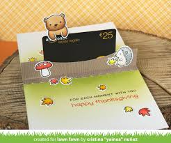 thanksgiving gift cards gift card pop up lawn fawn