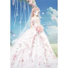 wedding dress anime drill diamond painting beautiful wedding dress