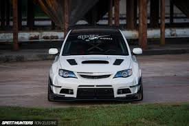 subaru hatchback custom east meets west in a wide body wrx hatch speedhunters