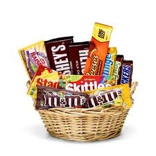 snack basket delivery favorite treats candy basket at send flowers
