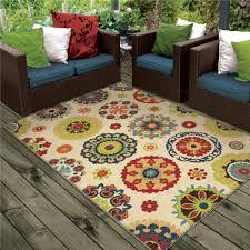 Veranda Indoor Outdoor Rugs 1831 5x8 Orian Rugs 1831 5x8 Indoor Outdoor Leaves Allover
