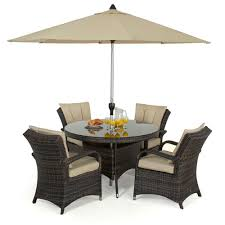 Patio Furniture Sets Uk - maze rattan texas 4 seat round garden furniture set internet